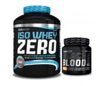 BIO TECH USA Iso Whey Zero 2270g + Black Blood NOX+ 330g GRATIS