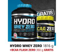 BIO TECH USA Hydro Whey Zero 1816g + BCAA Flash Zero 360g GRATIS