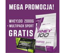 TREC Whey 100 2000g + Multipack Sport Day/Night 60 kap GRATIS!